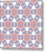 Hexagonal Flower Pattern Metal Print
