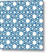 Hexagonal Snowflake Pattern Metal Print
