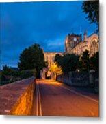 Hexham Abbey At Night Metal Print