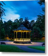 Hexham Bandstand At Night Metal Print