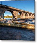 Hexham Bridge And Fish Pass Metal Print
