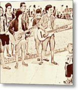 Hey Baby We Sing For You Metal Print