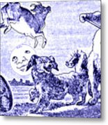 Hey Diddle Diddle The Cat And The Fiddle Nursery Rhyme Metal Print