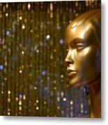 Hey Gold Looking Metal Print