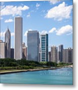 Hi-res Picture Of Chicago Skyline And Lake Michigan Metal Print