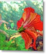Hibiscus Flame Metal Print