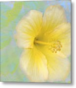 Hibiscus In The Clouds Metal Print