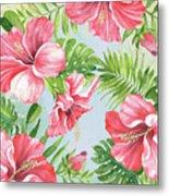Hibiscus Paradise-jp3965 Metal Print