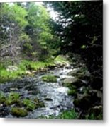 Hidden Brook Metal Print
