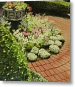 Hidden Garden In Quebec Metal Print