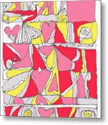 Hidden Hearts II Metal Print