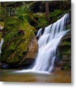 Hidden Hocking Hills Waterfall Ohio Metal Print