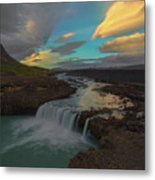 Hidden Icelandic Waterfall Metal Print