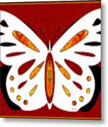 Hidden Possibilities And Abstract Butterflies By Omashte Metal Print