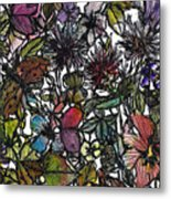 Hide And Seek In Wildflower Bushes Metal Print
