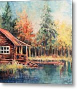 Hide Out Cabin Metal Print