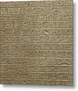 Hieroglyph Iv Metal Print