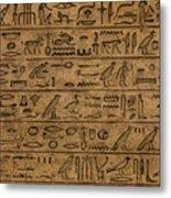 Hieroglyph Metal Print