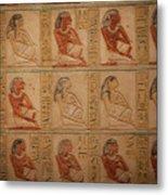 Hieroglyphic Detail Metal Print