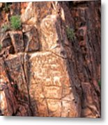 Hieroglyphics Trail 1 Metal Print