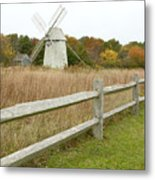Higgins Farm Windmill Brewster Cape Cod Metal Print