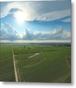 High Above Cropland  Metal Print