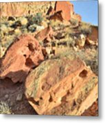 High Above The Campground Metal Print