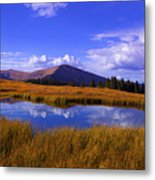 High Country Pond Metal Print