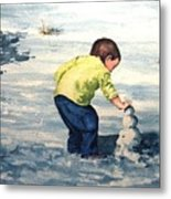High Country Snow Girl Metal Print