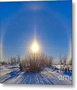 High Dynamic Range Photo Of Sundogs Metal Print