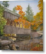 High Falls Bridge Metal Print