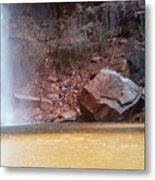 High Falls Emerald Pool Metal Print