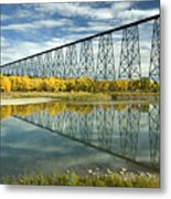 High Level Bridge In Lethbridge Metal Print