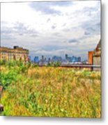 High Line On The Hudson Metal Print