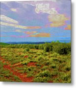 High Mesa Path Metal Print