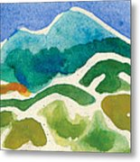High Mountains And Meadows Metal Print by Annie Alexander
