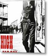 High Noon, Gary Cooper Metal Print