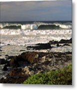 High Ocean Surf Metal Print
