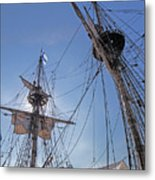High On The Foremast Metal Print