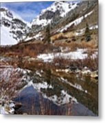 High Peak Reflections Metal Print