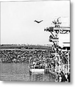 High Platform Swan Dive Metal Print