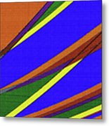 High Power Wires Abstract Color Sky Metal Print