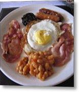 High Protein Breakfast Metal Print