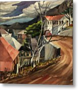 High Road At Jerome Metal Print