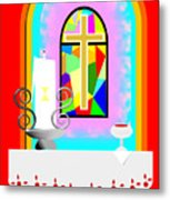 High Stained Glass Metal Print