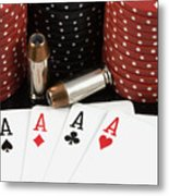 High Stakes Poker Metal Print