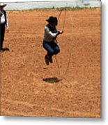 High Steppin Cowboy Metal Print