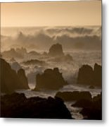 High Surf At Asilomar Beach Metal Print