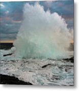 High Surf Explosion Metal Print