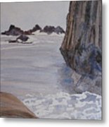 High Tide At Seal Rock Metal Print